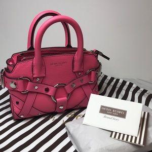 Henri Bendel Hot Pink mini crossbody leather bag